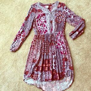 Knox Rose Boho long sleeve dress